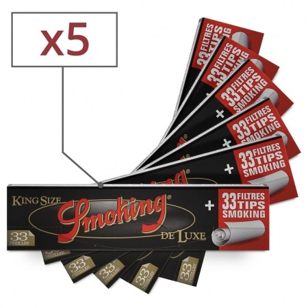 Feuille a rouler Smoking Slim Deluxe et Tips x 5