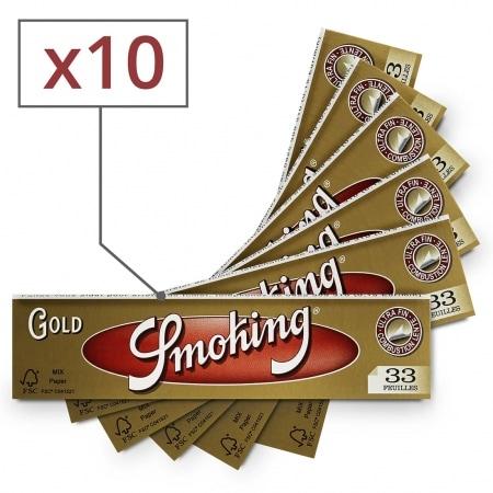 Papier à rouler Smoking Slim doré x10