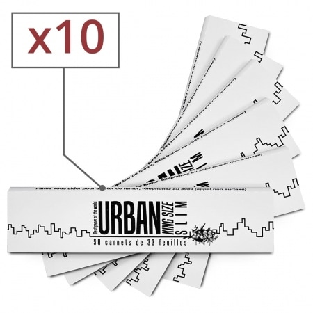 Feuille a rouler Urban King Size Slim x 10