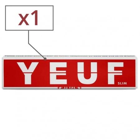 Papier à rouler Yeuf Slim Original et Tips x 1