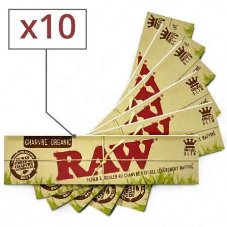 Papier à rouler Raw slim Organic x10