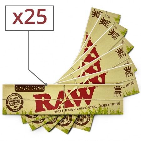 Papier à rouler Raw slim Organic x25