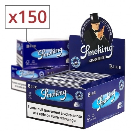 Papier à rouler Smoking Slim Blue x50 PACK de 3