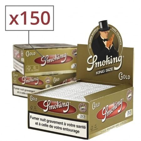 Papier à rouler Smoking Slim doré x50 PACK de 3
