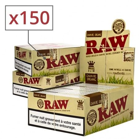 Papier à rouler raw slim Organic x50 PACK de 3