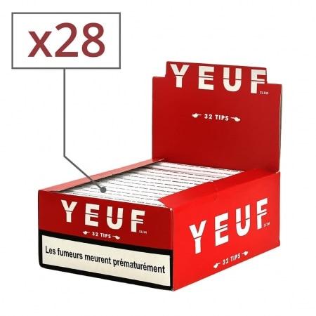 Papier à rouler Yeuf Slim Original et Tips x 28