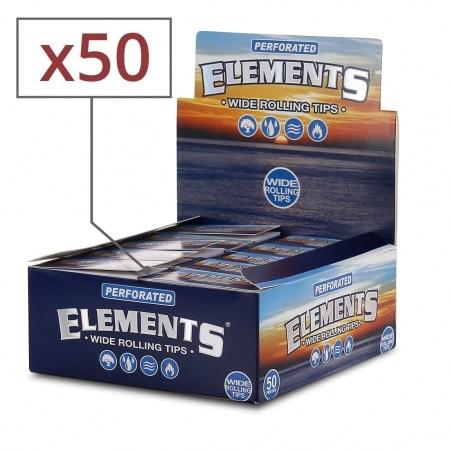 Filtre carton Elements Large Perforé x 50