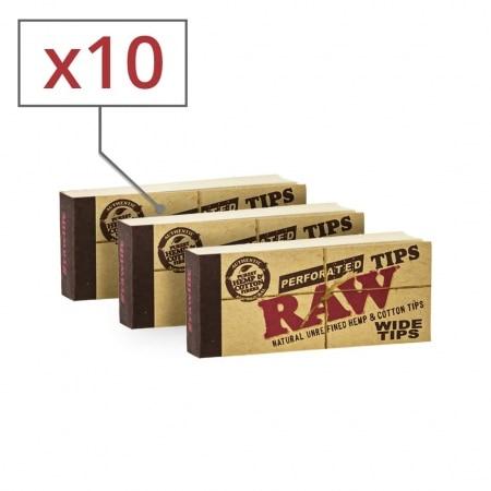 Filtres en Carton Raw Wide x10