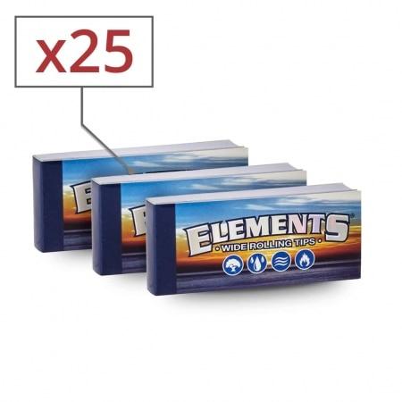 Filtres en carton Elements Larges Non Perforés x 25
