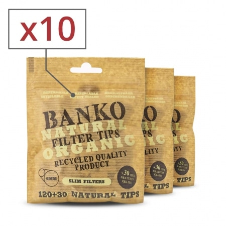 Filtres Slim banko Natural x 10