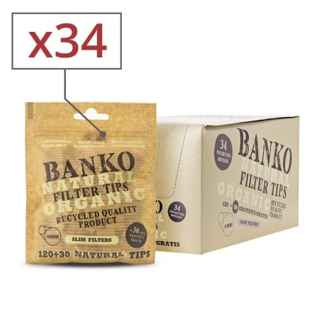 Filtres Slim banko Natural x 34