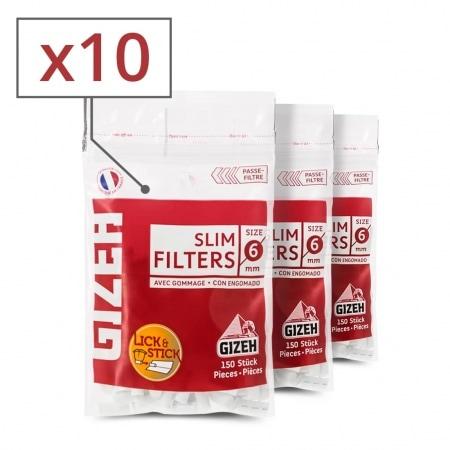 Filtres Gizeh Slim x 10 sachets