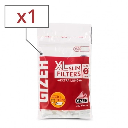 Filtres Gizeh Slim 6 mm Long x 1 sachet