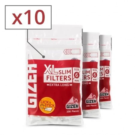 Filtres Gizeh Slim 6 mm Long x 10 sachets