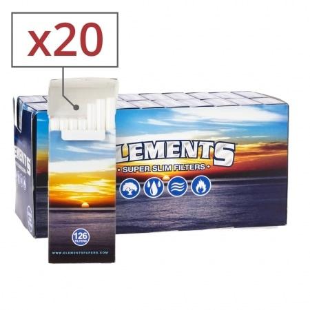 Filtres Elements Super Slim en sticks x 20