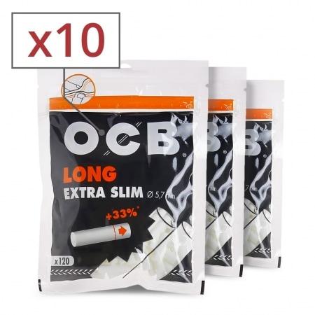 Filtres OCB Long Extra Slim x 10 sachets