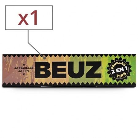 Papier a rouler Beuz Slim Brown et Tips x1