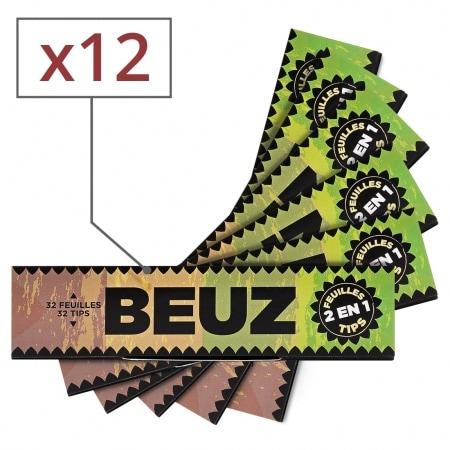 Papier a rouler Beuz Slim Brown et Tips x12