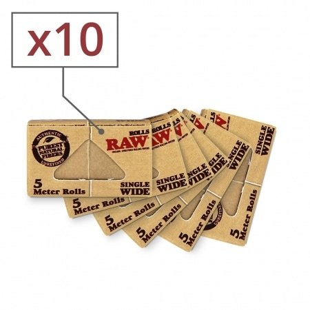 Papier a rouler Raw Rolls Regular x 10