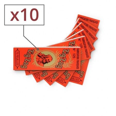 Papier à rouler Zig Zag Orange x 10