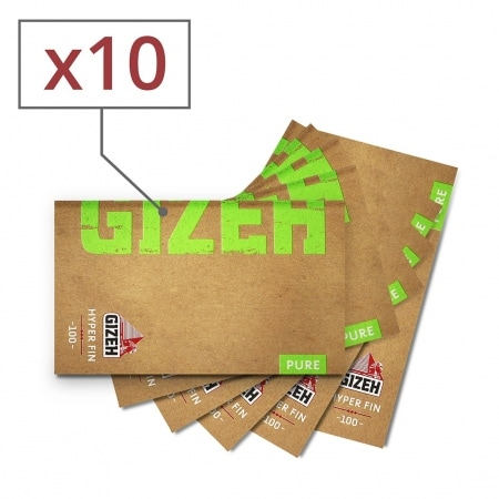 Papier à rouler Gizeh Pure Hyper Fin x 10