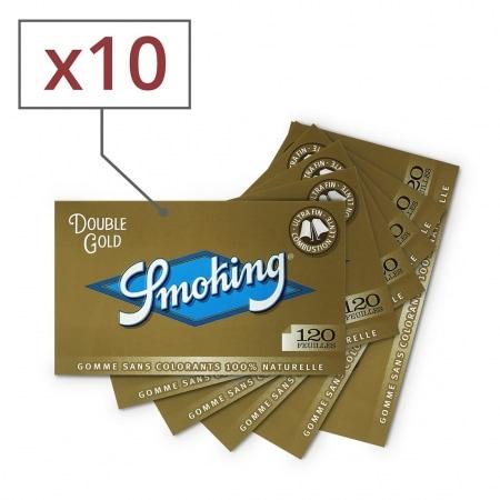 Papier à rouler Smoking Regular doré x10