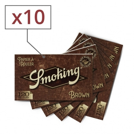 Papier à rouler Smoking Brown Régular x 10