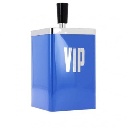 Cendrier poussoir VIP bleu