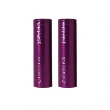 Batterie Efest e cigarette IMR 18650 3000 mAh x2