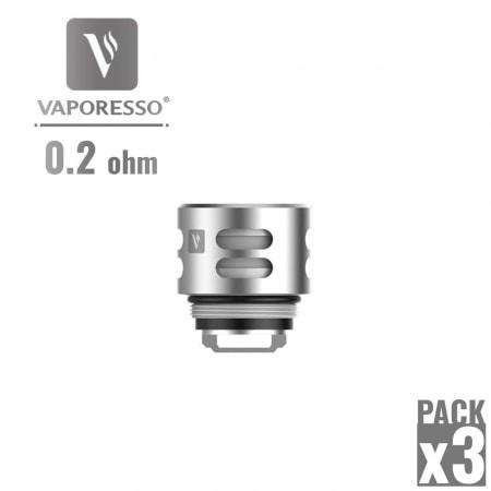 Résistance Vaporesso QF Meshed 0.2 Ω pack de 3
