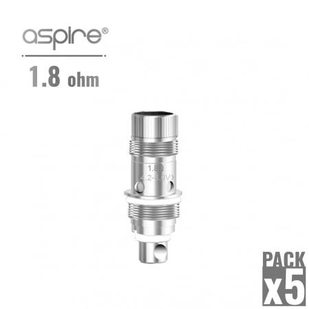 Atomiseur Aspire Nautilus 1.8 Ohm x 5
