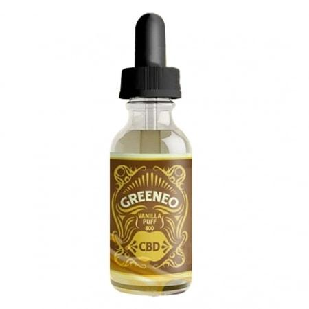 CBD E liquide Greeneo Vanilla Puff 800mg
