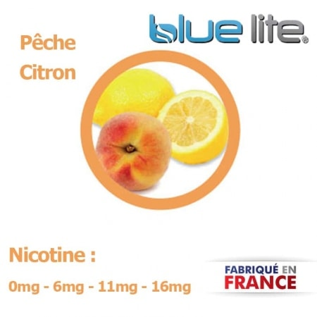 E liquide français Pêche Citron bluelite