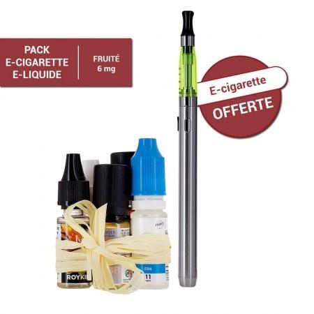 Pack e-cigarette e-liquide 6 mg Fruité