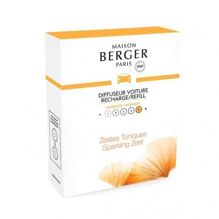 Recharge Diffuseur Voiture Lampe Berger Aroma Energy Zestes Toniques