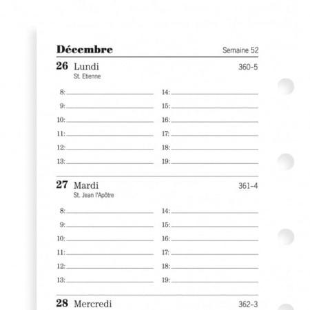 Recharge Filofax Mini 2019 1 Semaine sur 2 Pages