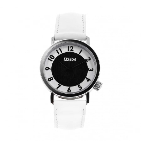 Montre Akteo Vintage Moon blanche
