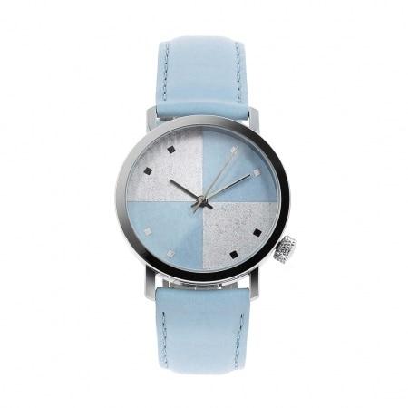 Montre Akteo Vintage Bicolor bleue