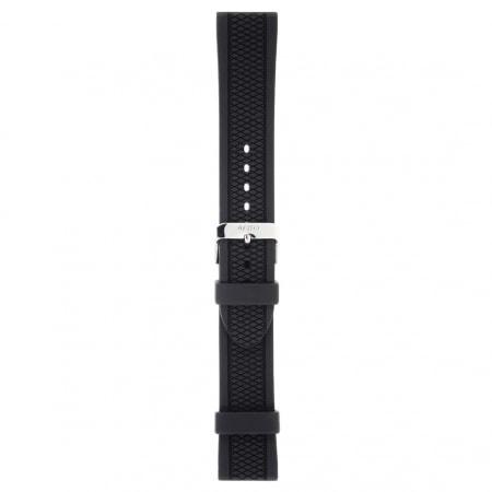 Bracelet Montre Silicone Noir strié