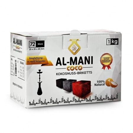 Charbon chicha Al-Mani Coco 1 kg