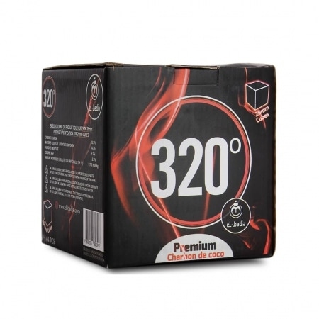 Charbon chicha El Badia 320° Cube