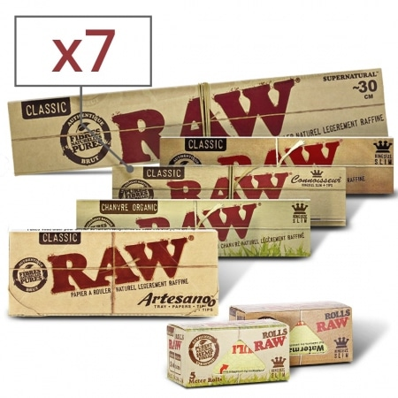 Pack Découverte Feuille a rouler Raw Slim