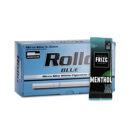 Pack Tubes Rollo Blue Micro Slim Carte Frizc Menthol