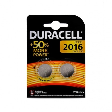 Pile Lithium Duracell CR2016 x 2