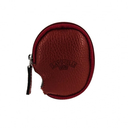 Etui pipe cuir rouge