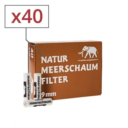 Filtres Meerschaum naturels 9 mm