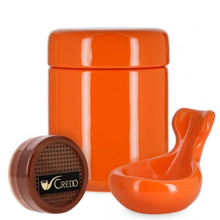 Pack Fumeur de Pipe Céramique Orange