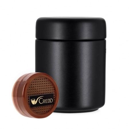 Pot à tabac Céramique Noir et Humidificateur Crédo