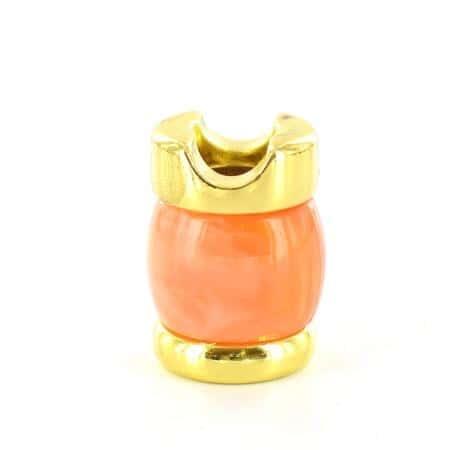 Etouffoir à cigarettes doré marron orangé marbré