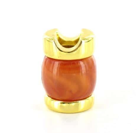 Etouffoir à cigarettes doré marron marbré